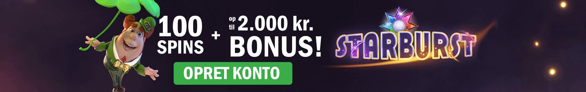 Få 100 gratis spins hos Casinosjov.dk