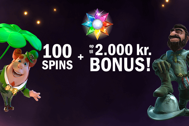 2000 kroner i bonus og 100 gratis spins
