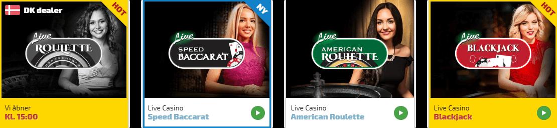 Spil dine ynglings live casino spil hos Spilnu.dk