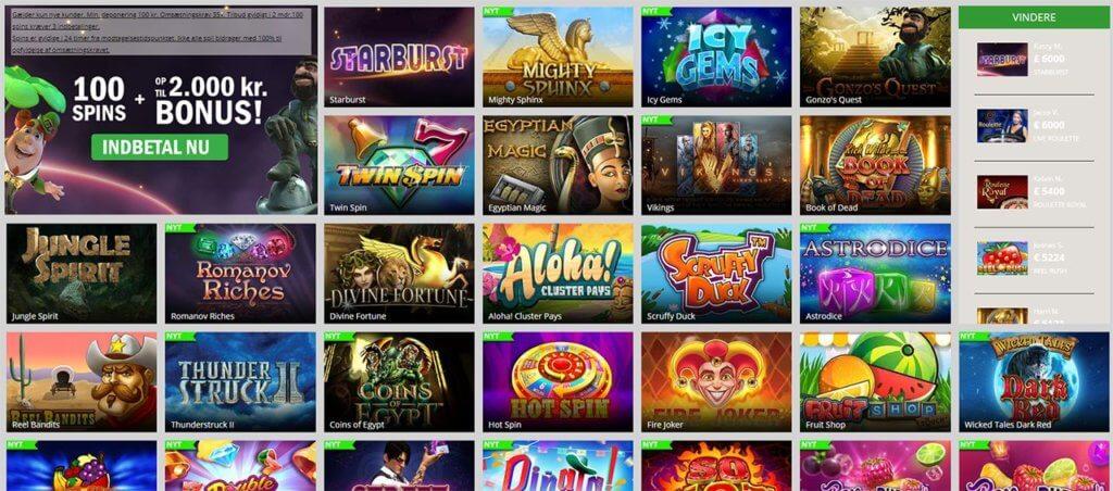 De har rigtig mange forskellige og sjove spilleautomater hos Casinosjov.dk