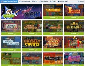 Spil alle de klassiske og originale spilleautomater kendt fra spillehallen