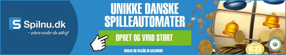 Prøv Spilnu.dk's unikke danske spilleautomater i dag!