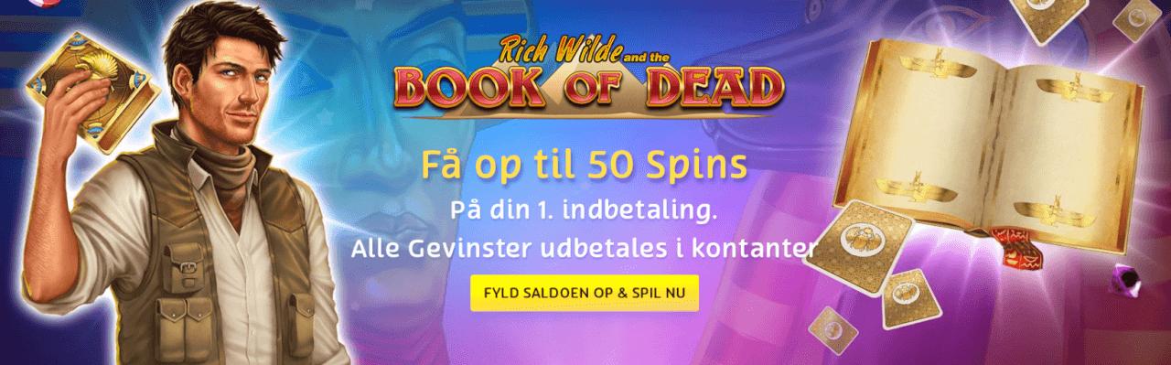 Få 50 free spins hos Playojo